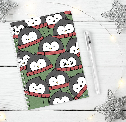 Christmas Pengy A5 Notebook