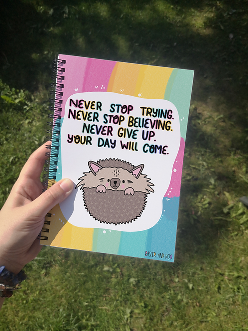 Never stop trying... A5 Notebook