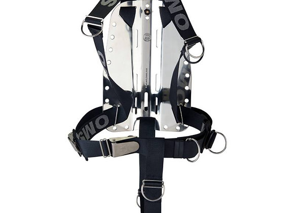 OMS Smartstream Harness with Stainless Steel Backplate and Crotch Strap