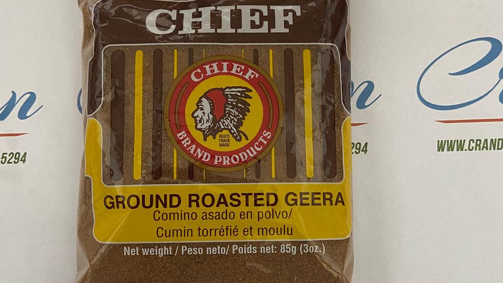 Chief Ground Roasted Geera  85g