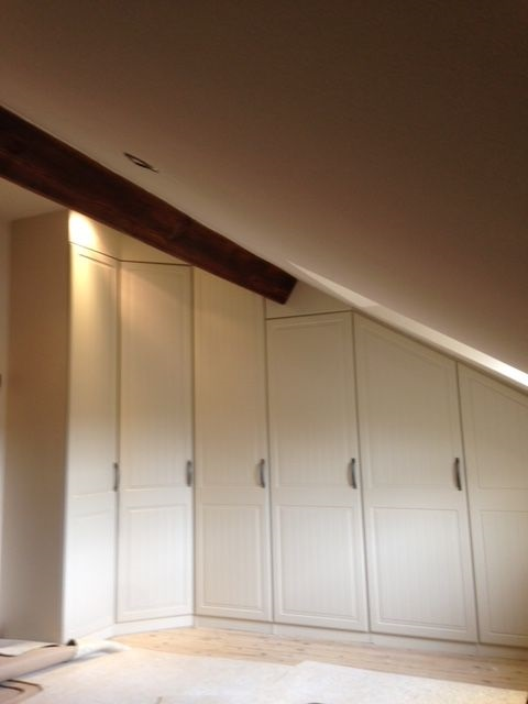 Fitted sloping wardrobe - Derbyshire