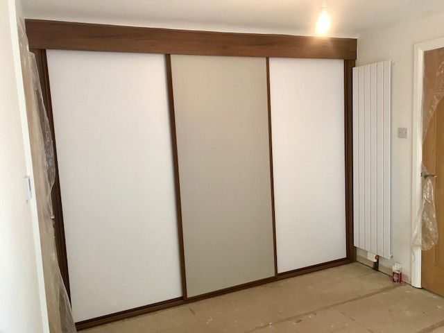 Fitted sliding door wardrobe built to suit sloping ceilings - Tupton, Chesterfield