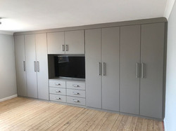 Built in fitted wardrobes - grey....