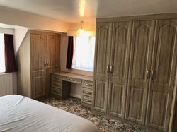 Fitted sloping furniture with built in dressing table area installed Newbold, Chesterfield