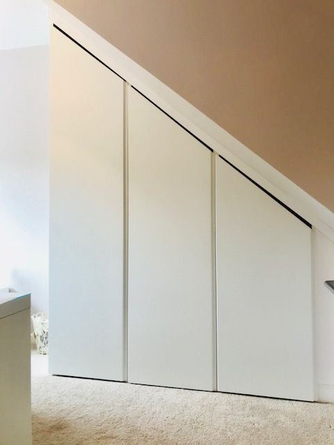 Fitted sloping wardrobes installed in Barlow, Derbyshire