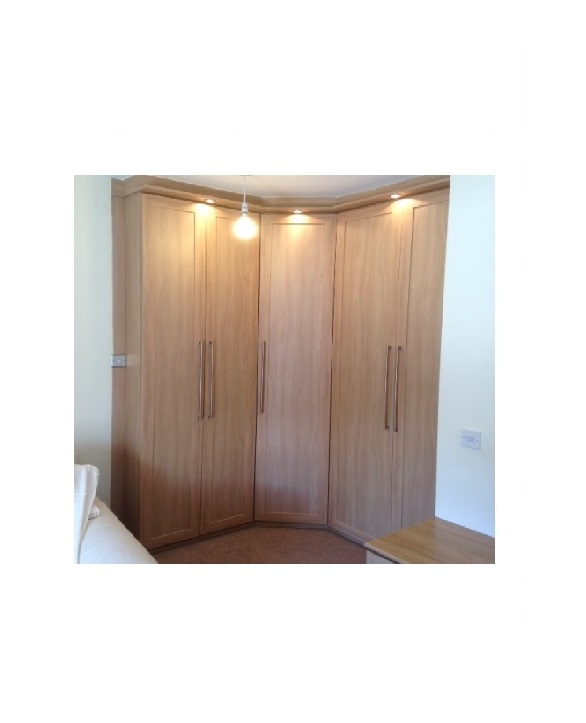 Fitted bedroom - corner wardrobes