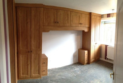 Fitted overbed wardrobes -Brimington