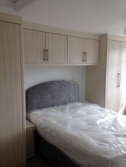 Wardrobes with over bed cabinets