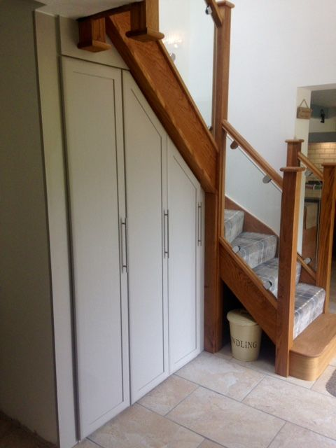 Furniture built under stairs-Ashover