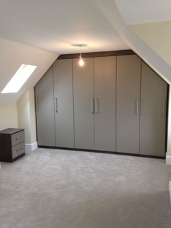 Fitted sloping wardrobes in Glapwell