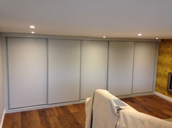 Made to measure grey sliding doors
