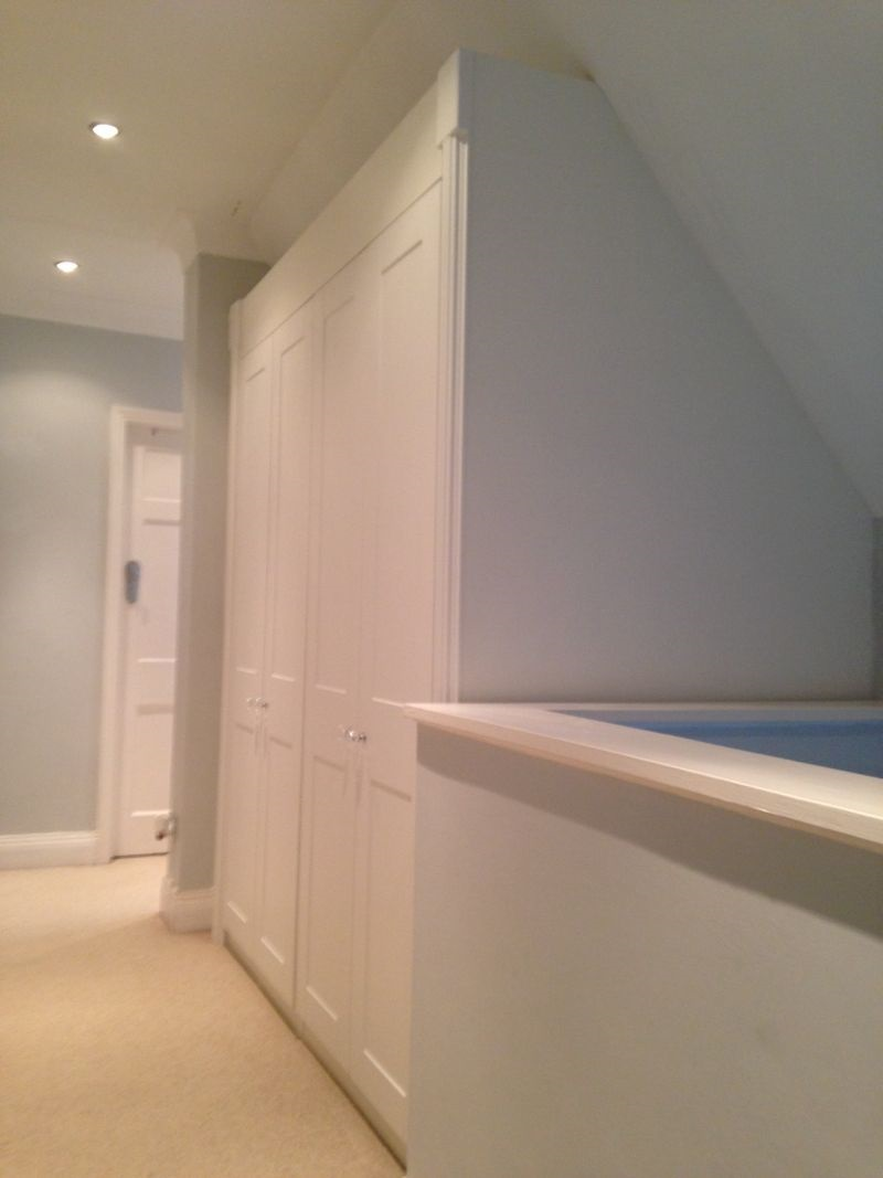 Fitted sloping wardrobes - Dronfield