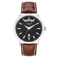 Day-Date 42mm Black Brown strap