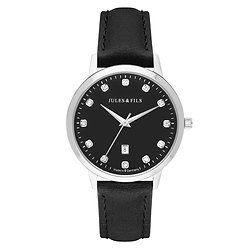 Dauphine Diamond Black 34mm Black strap