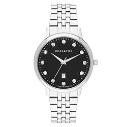 Dauphine Diamond Black 34mm Steel strap