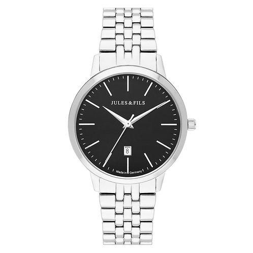Dauphine Classic Black 34mm Steel strap