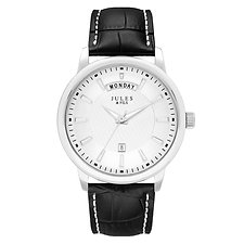 Day-Date 42mm Silver Black strap