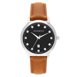 Dauphine Diamond Black 34mm Brown strap