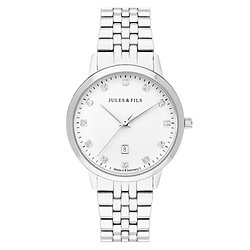 Dauphine Diamond Silver 34mm Steel strap