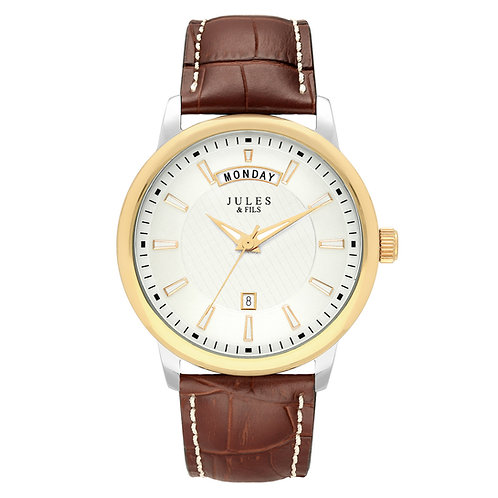 Day-Date 42mm Bicolor Brown strap