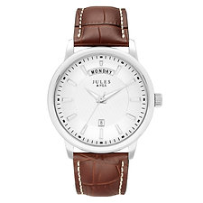 Day-Date 42mm Silver Brown strap
