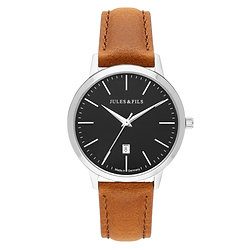 Dauphine Classic Black 34mm Brown strap