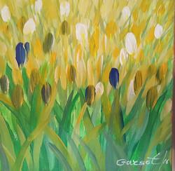 2 Blue Tulips
