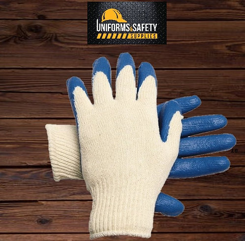 Latex Coated, Cotton/Polyester General Protection Work Gloves