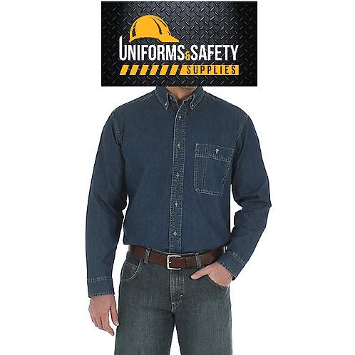 Wrangler Rugged Wear® Denim Basic Shirt | Mens Shirts by Wrangler®
