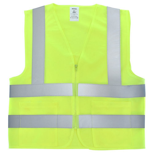 Neiko #53000A (Neon Yellow) High Visibility Safety Vest with 2 Pockets