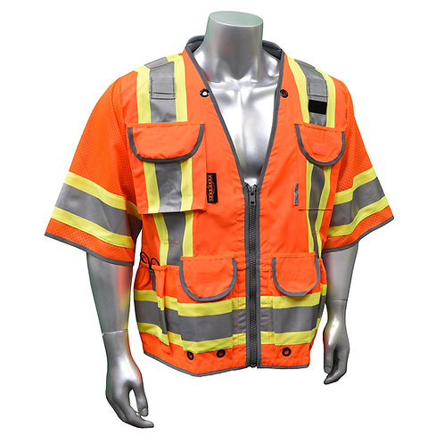 Radians #SV55-3 Type R Class 3 Heavy Duty Two Tone Safety Vest (Hi-Viz Orange)