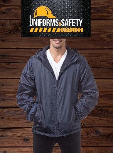 Pro Club Men's Fleece Lined Windbreaker Jacket