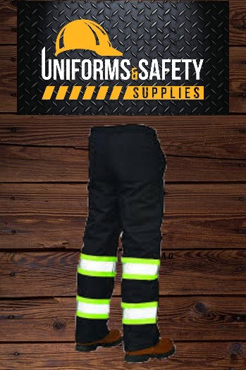 Industrial Work Semi-New Pants with Enhanced Visibility Bands