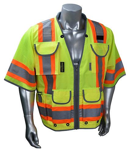 Radians #SV55-3 Type R Class 3 Heavy Duty Two Tone Safety Vest (Hi-Viz Green)