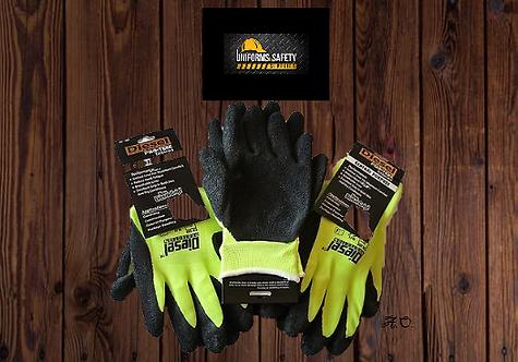 GREEN Diesel PRO-TEKK Latex Grip General Purpose Work Gloves
