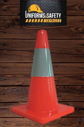 "Traffic Cone, 18"" Cone Height, Orange, PVC"