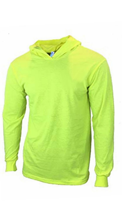 SUNA Apparel Men High Visibility Hoodie T-Shirt Work Long Sleeve