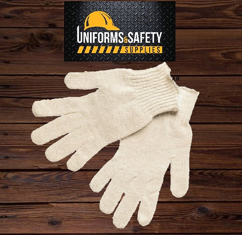 Cotton General Protection Work Gloves (12 Pieces)