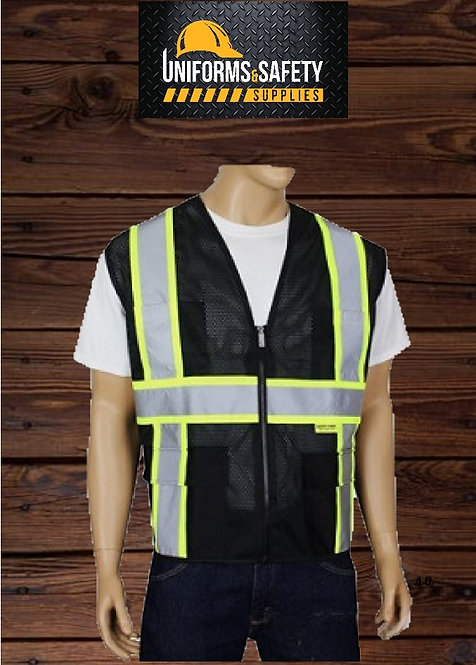 Truecrest - Black Safety Vest