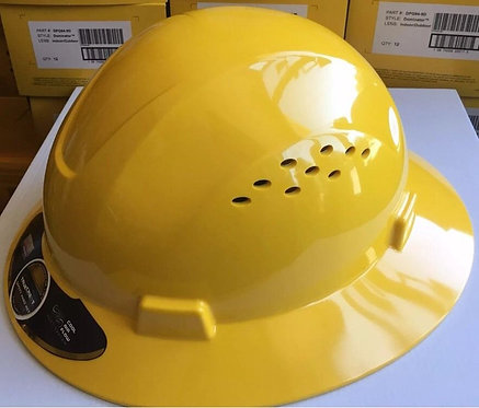 TrueCrest HDPE (Yellow) Full Brim Hard Hat with Fas-trac Suspe