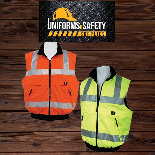 3A Safety Hi Vis ANSI Class 2 Reversible Body Warmer