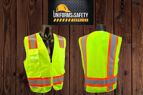 TrueCrest Class 2 Two-Tone Surveyor Safety Vest