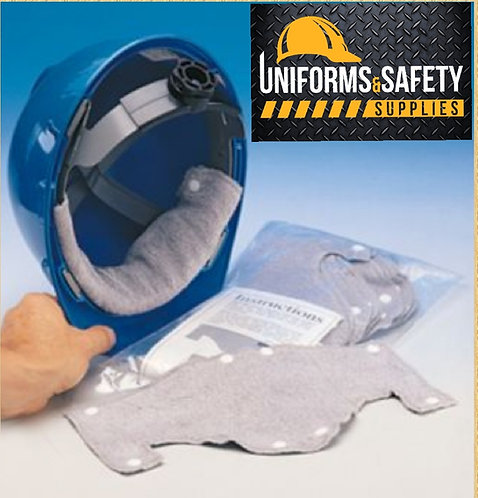 Terry Cloth Sweat and Comfort Band for Hard Hats