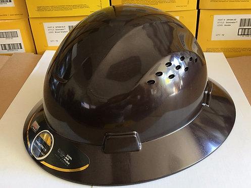 TrueCrest HDPE (Black) Full Brim Hard Hat with Fas-trac Suspension