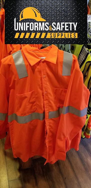Enhanced Visibility Work Shirt Reflective Long Sleeve Industrial Uniform
