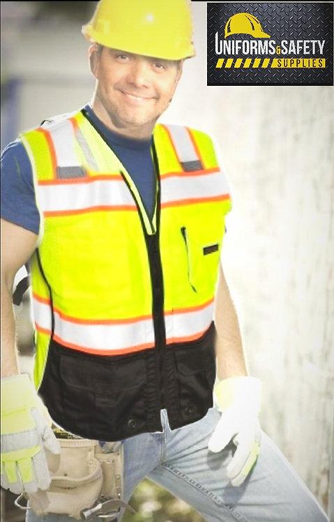 TrueCrest  Black Bottom Safety Vest - Yellow/Lime