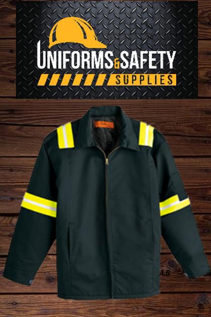 Cintas Men's Enhanced Visibility Perma-Lined Jacket Semi-New