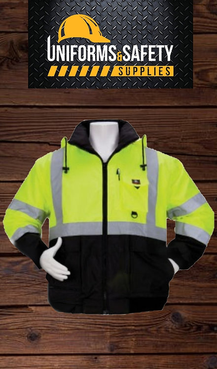 3A HIGH-VISIBILITY TWO-TONE BOMBER JACKET