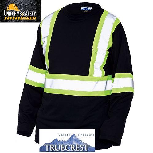 TrueCrest High Visibility Micro-Mesh ANSI 2 Long Sleeve Shirt