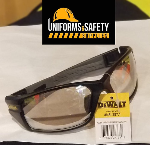 DeWalt DPG101-9 Auger Safety Glasses - Black/Gray Frame - Indoor/Outdoor Mirror